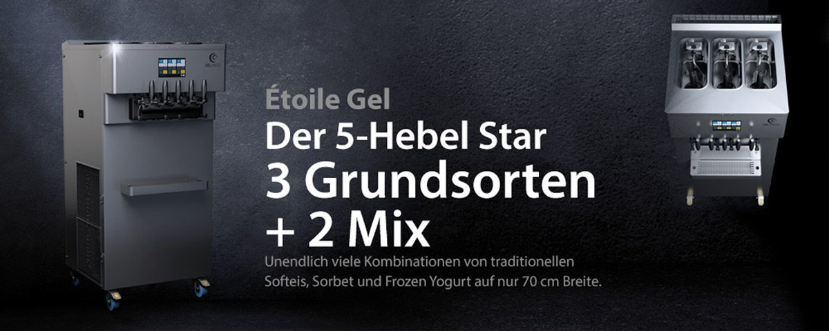 Gel Matic Etoile Gel - Der 5-Hebel Star aus Italien